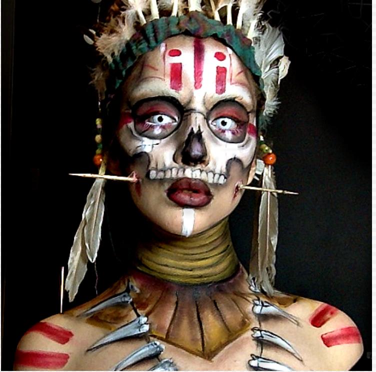 Voodoo witch doctor makeup